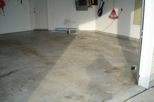 Garage Floor - BEFORE