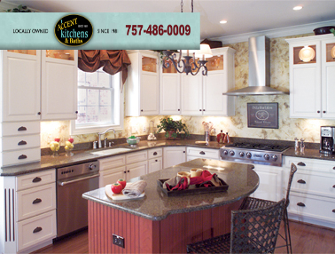 beach kitchen cabinets glass door cabinet accent kitchens and bath remodeling should you choose white in your virginia