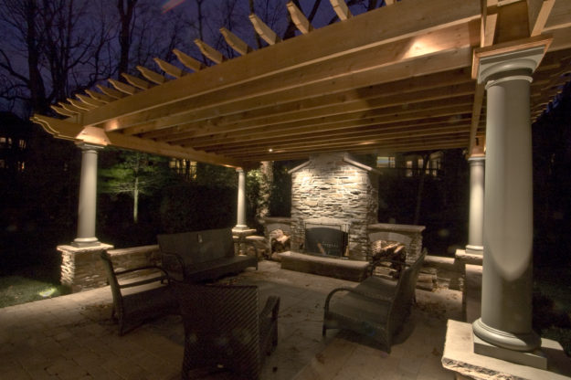 Gazebo Pergolas And Pavilions Outdoor Lighting In