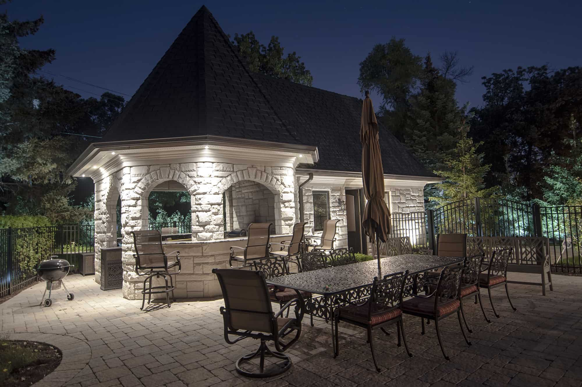 Gazebo Pergolas and Pavilions  Outdoor Lighting in Chicago IL  Outdoor Accents