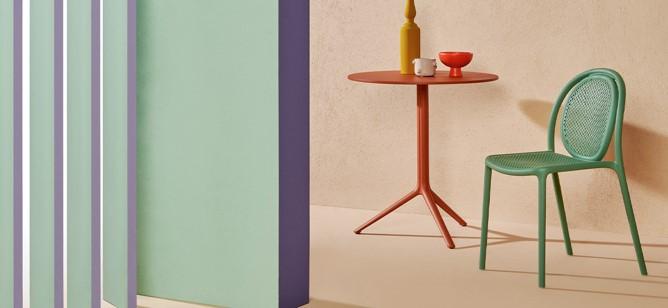 Chaise d'extérieur design vert