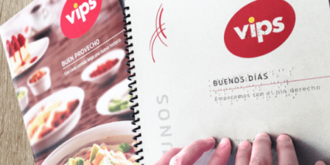 Vips menu Braille