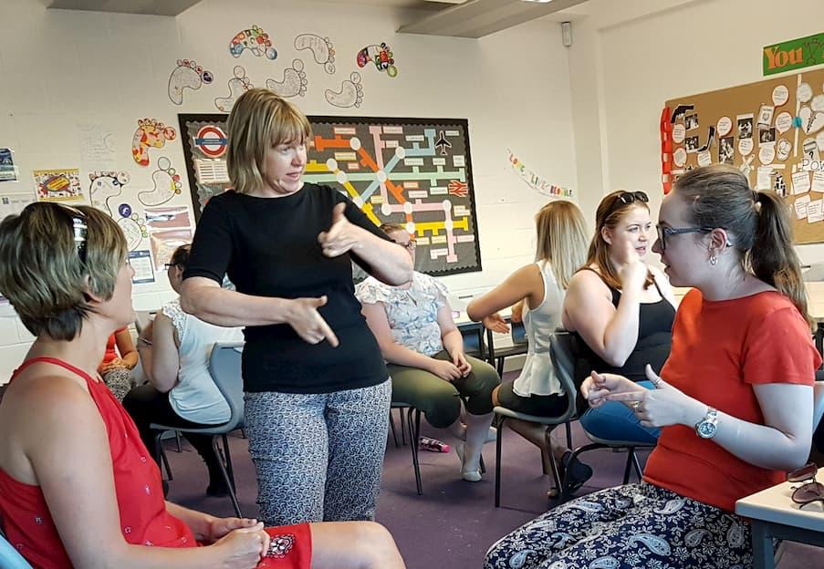 Image result for deaf arts BSL