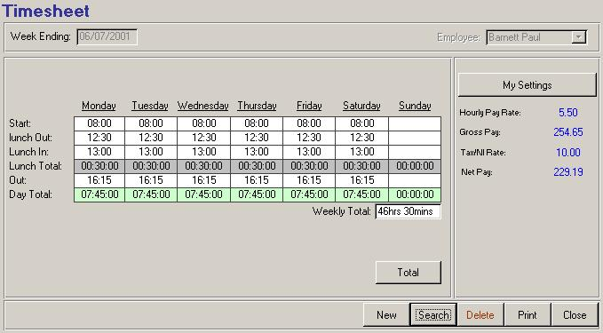 Image Result For Payroll Timesheet Software