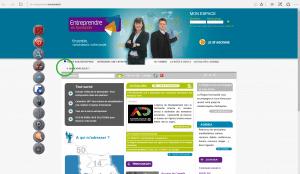 Le site Entreprendre en Normandie Accessible
