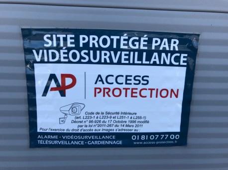 autocollant Access Protection dissuasif en cas de cambriolage