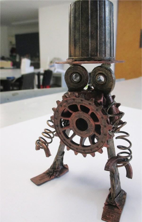 Steampunk Robot Sculpture