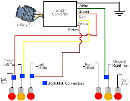 how to install a trailer light taillight converter in your