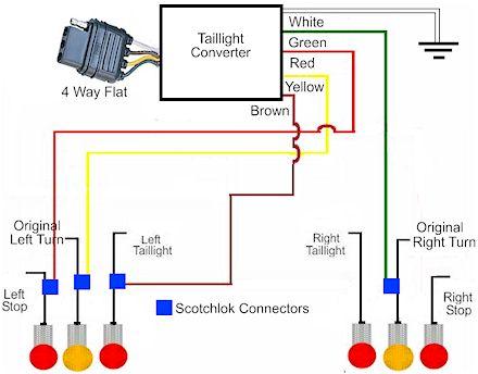 toyota trailer light converter wiring  wiring diagram diode