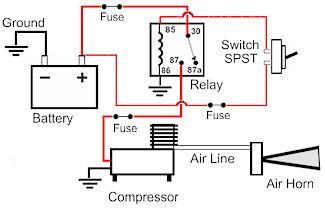 Air Horn Relay Wiring Diagram: Horn Wiring Diagram With Relay 3 Pin Horn Relay Wiring Diagram ,Design