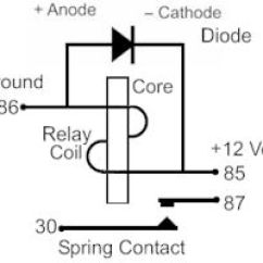 5 Pin Relay Circuit Diagram 12v Spotlight Wiring 12 Volt Car Relays Used In Automotive Industry Diode Protection For A