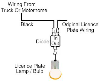 car lighting system wiring diagram 5 pin relay light bar trailer tow for towing optional license plate
