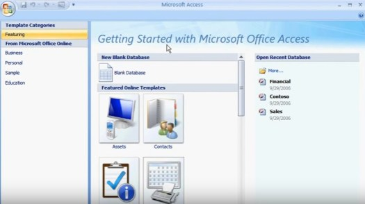 microsoft access screeshot video