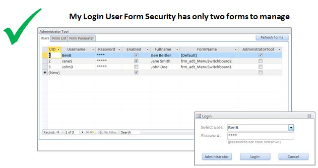 Microsoft Access - My Login User Form Utility