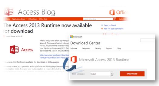 microsoft access 2013 runtime