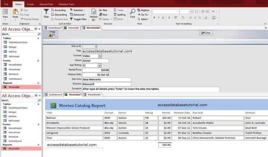 accessdatabasetutorial