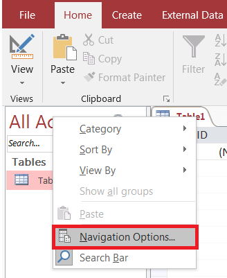 How to Hide the Ribbon When Launching Microsoft Access