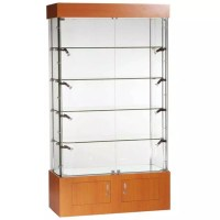 1016mm (w) Glass Display Cabinets with Storage - LED ...