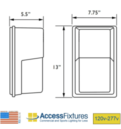 high output led square mini wall pack dimensions [ 900 x 900 Pixel ]