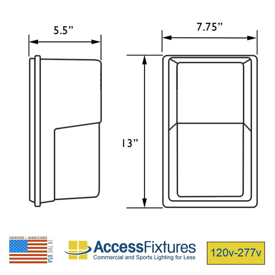 medium resolution of high output led square mini wall pack dimensions