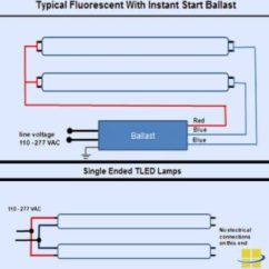Emergency Fluorescent Light Wiring Diagram Winch For Atv T8 Led Lamps Q&a - Retrofitting, Ballasts, Tombstones