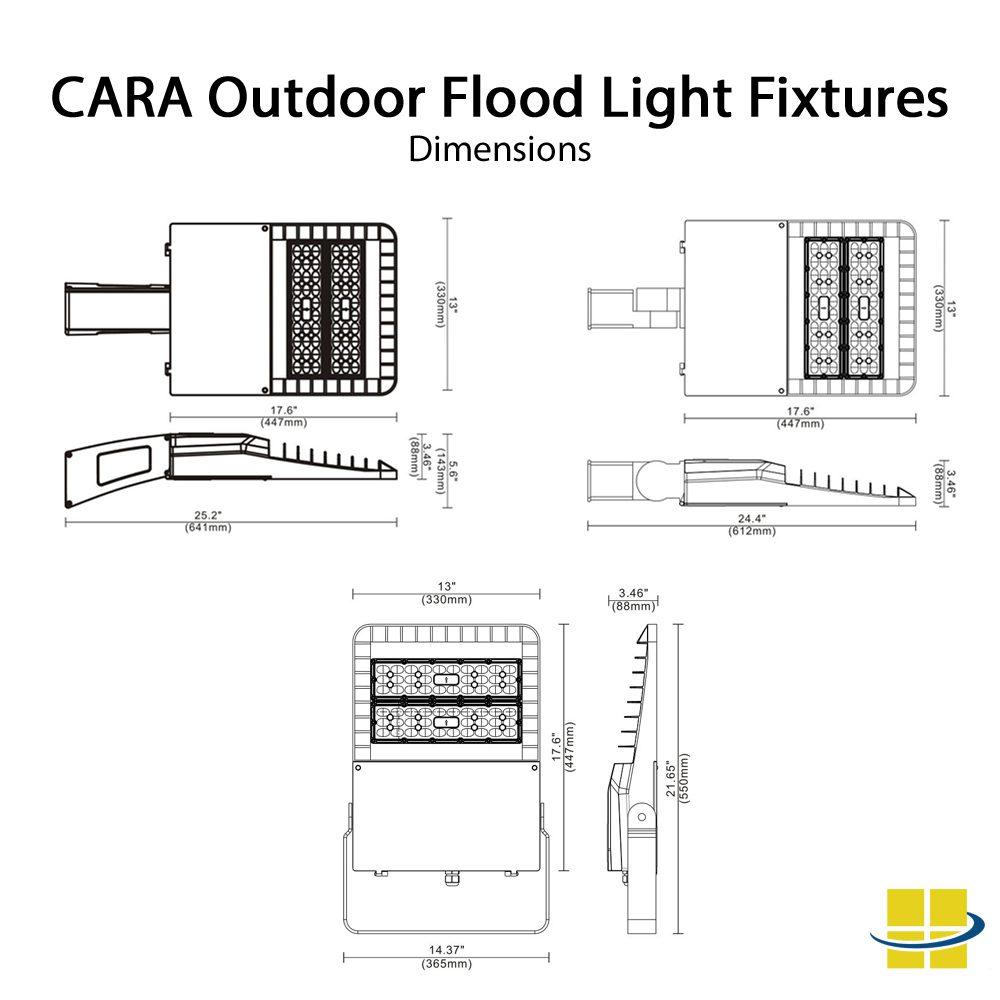 100w Outdoor Flood Light Fixtures: Die-Cast, 3K/4K/5K