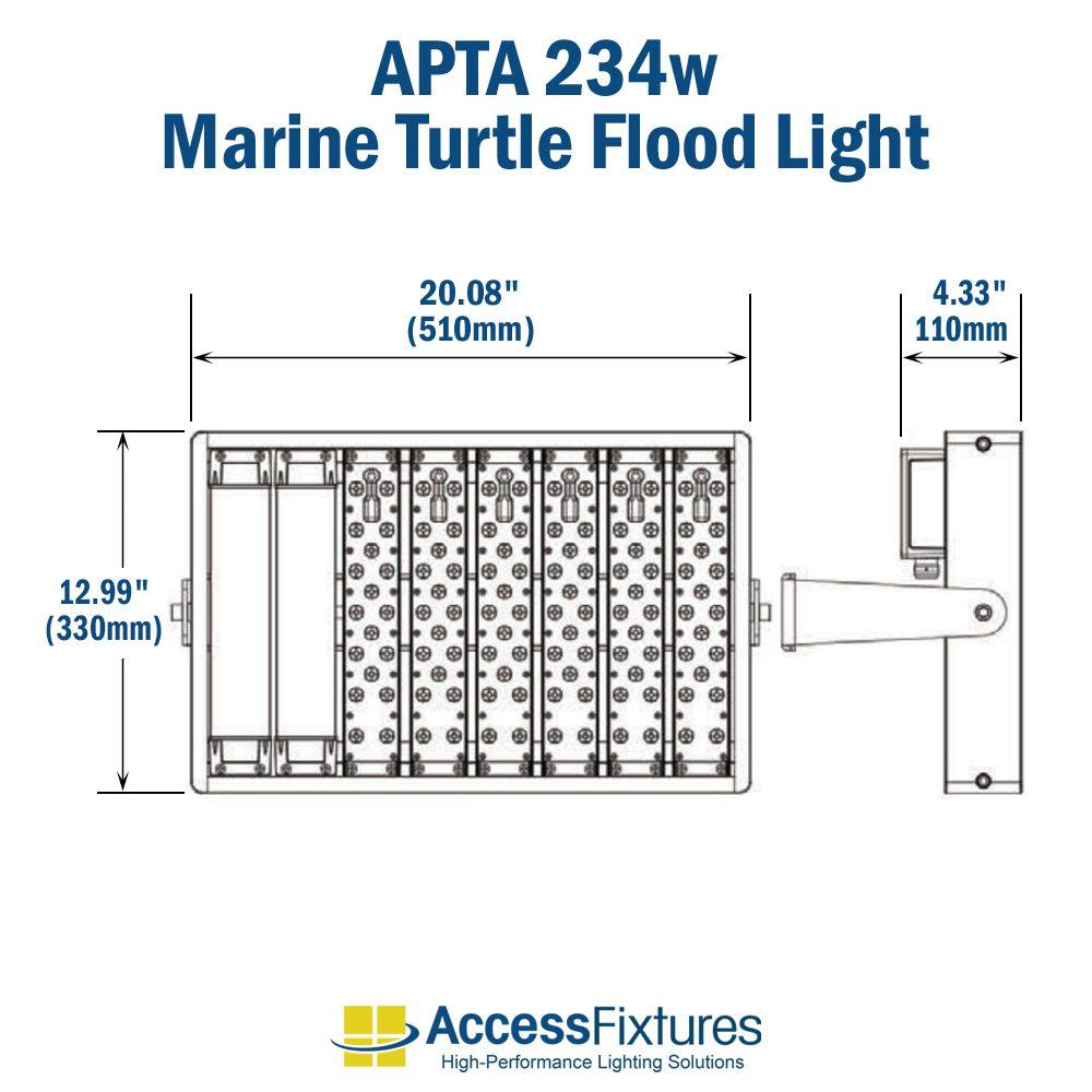 medium resolution of apta 234w turtle friendly led flood light 120 277v 200 000 hr