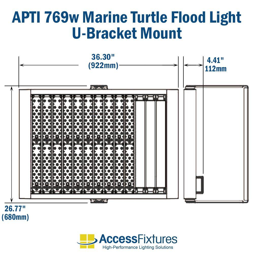 hight resolution of apti 769w turtle friendly led flood light 120 277v 200 000 hr