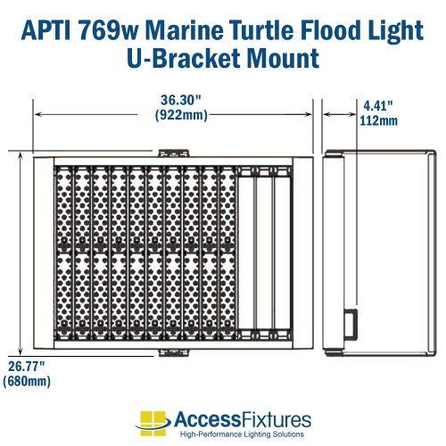 small resolution of apti 769w turtle friendly led flood light 120 277v 200 000 hr