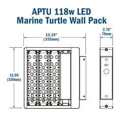 r aptu 118w turtle friendly led wall pack 347 480v 50 000 hr [ 1000 x 1000 Pixel ]