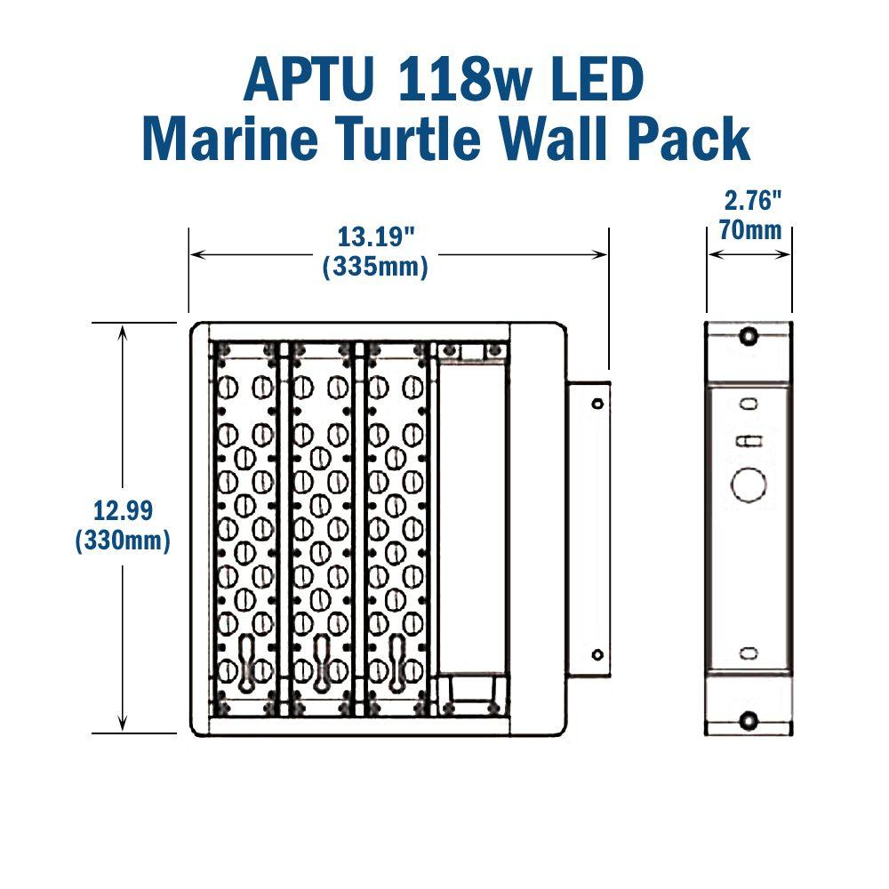 hight resolution of r aptu 118w turtle friendly led wall pack 347 480v 50 000 hr