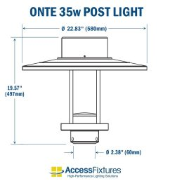 onte led outdoor post light and steel pole 35w dimensions [ 1000 x 1000 Pixel ]