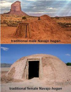 Traditional Navajo Hogan's