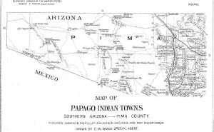 Map of Papago Indian Towns