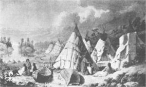 Encampment among the Islands of Lake Huron