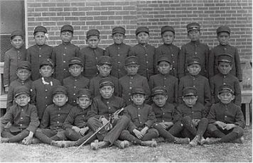 Albuquerque Indian School Class of younger boys