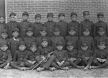 Albuquerque Indian School Class of younger boys