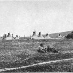 The Village of the Omahas - Photograph by W. H. Jackson, 1871.