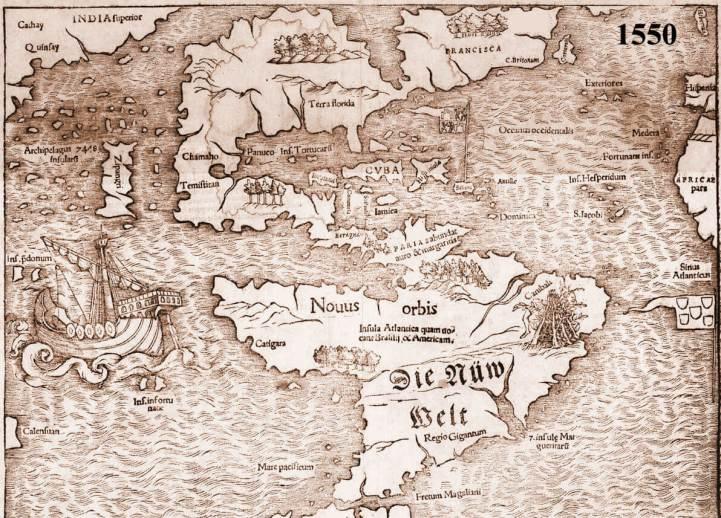 1550 Map of the Western Hemisphere