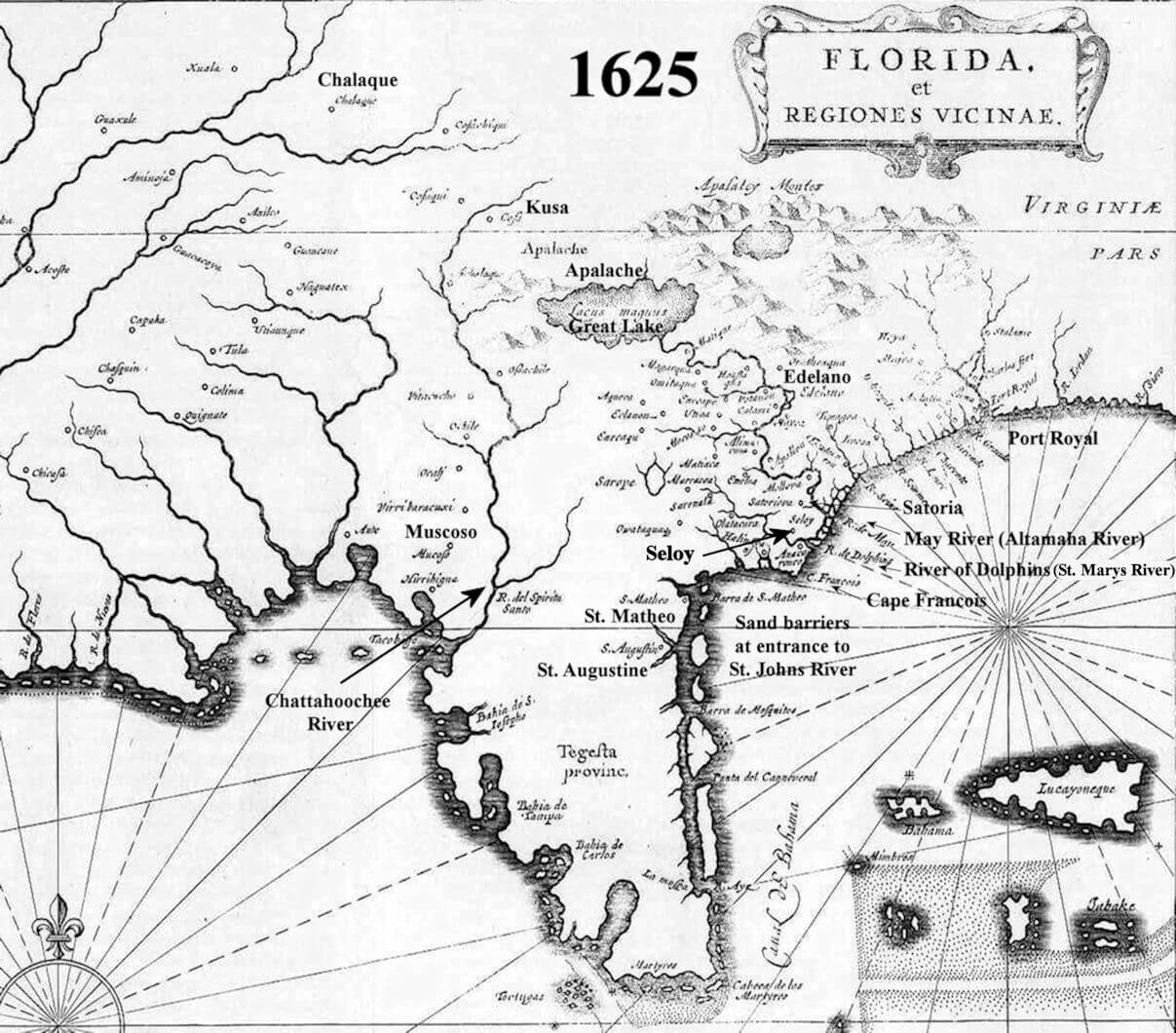 The Non Search For Fort Caroline And A Great Lake