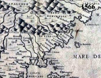 1566 Map of Spanish America