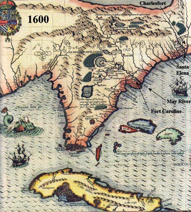 1600 Map of LaFlorida