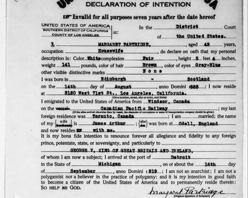 Maryland Naturalization Records 1906-1930