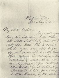 Letter from President Pierce to Steptoe - Page 1