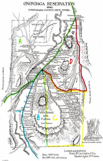 Onondaga Reservation Map, 1890