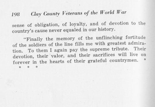 Clay County Kansas Veterans of World War 1