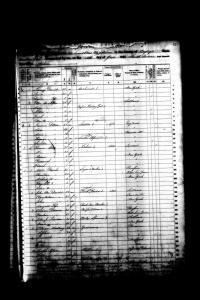1860 Cayuga County New York Census Image - Page 1