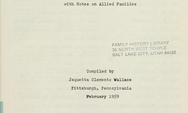 Clements family record: with notes on allied families