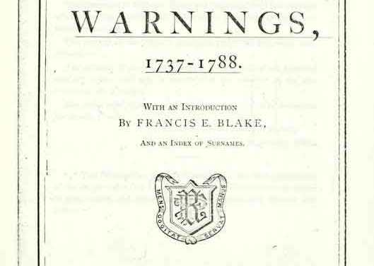 Bolton Massachusetts Warnings 1737-1788