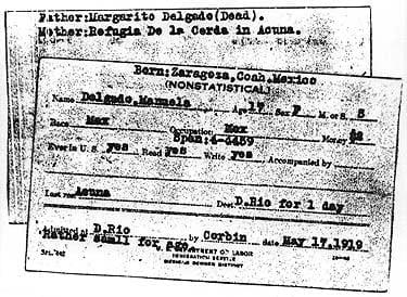 Non-Statistical Card Manifest, 1919